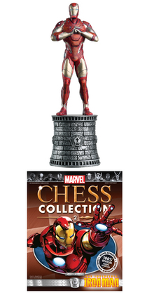 MARVEL CHESS FIG COLL MAG #2 IRON MAN WHITE BISHOP