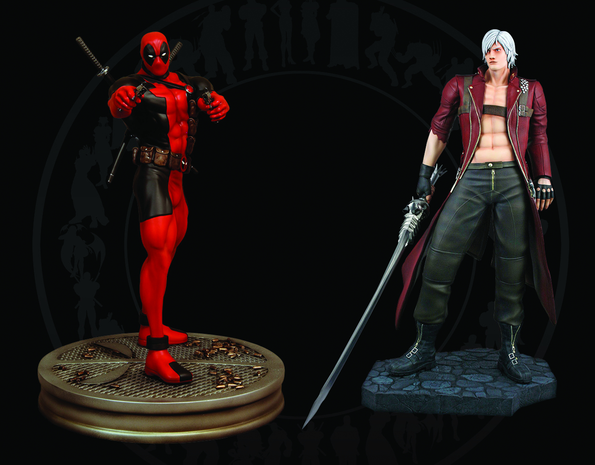 DEADPOOL VS DANTE 1/4 SCALE STATUE SET