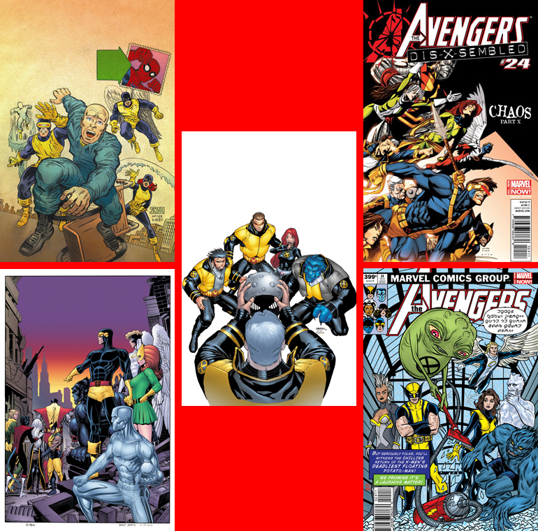 AVENGERS #24.NOW X-MEN COVERS AVENGERS SET