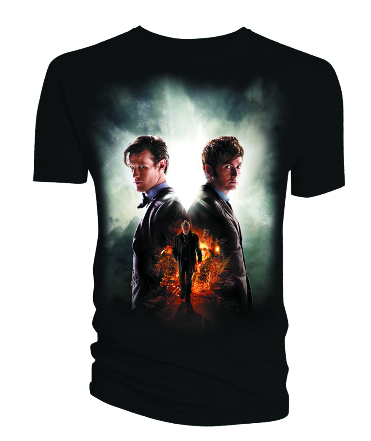 DW DAY OF THE DOCTOR BLK JRS T/S MED