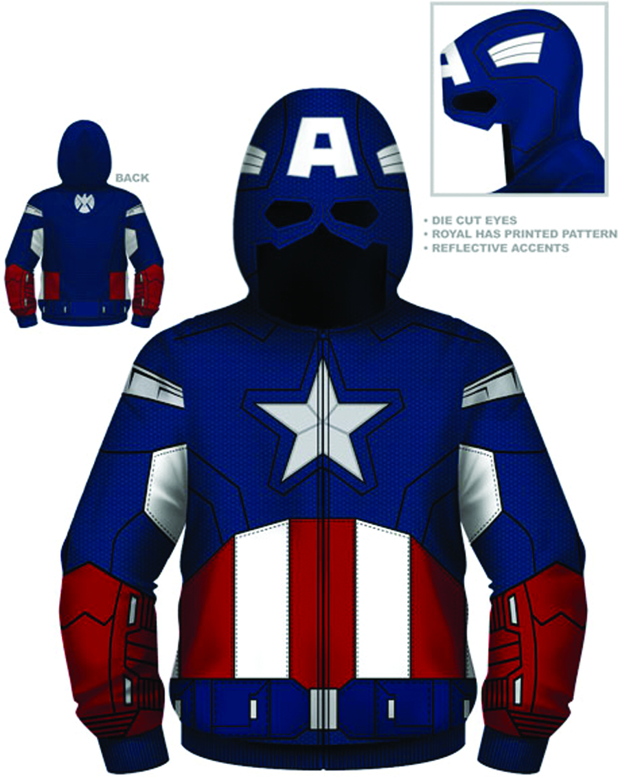 CAPTAIN AMERICA FUTURE CAP COSTUME HOODIE XL