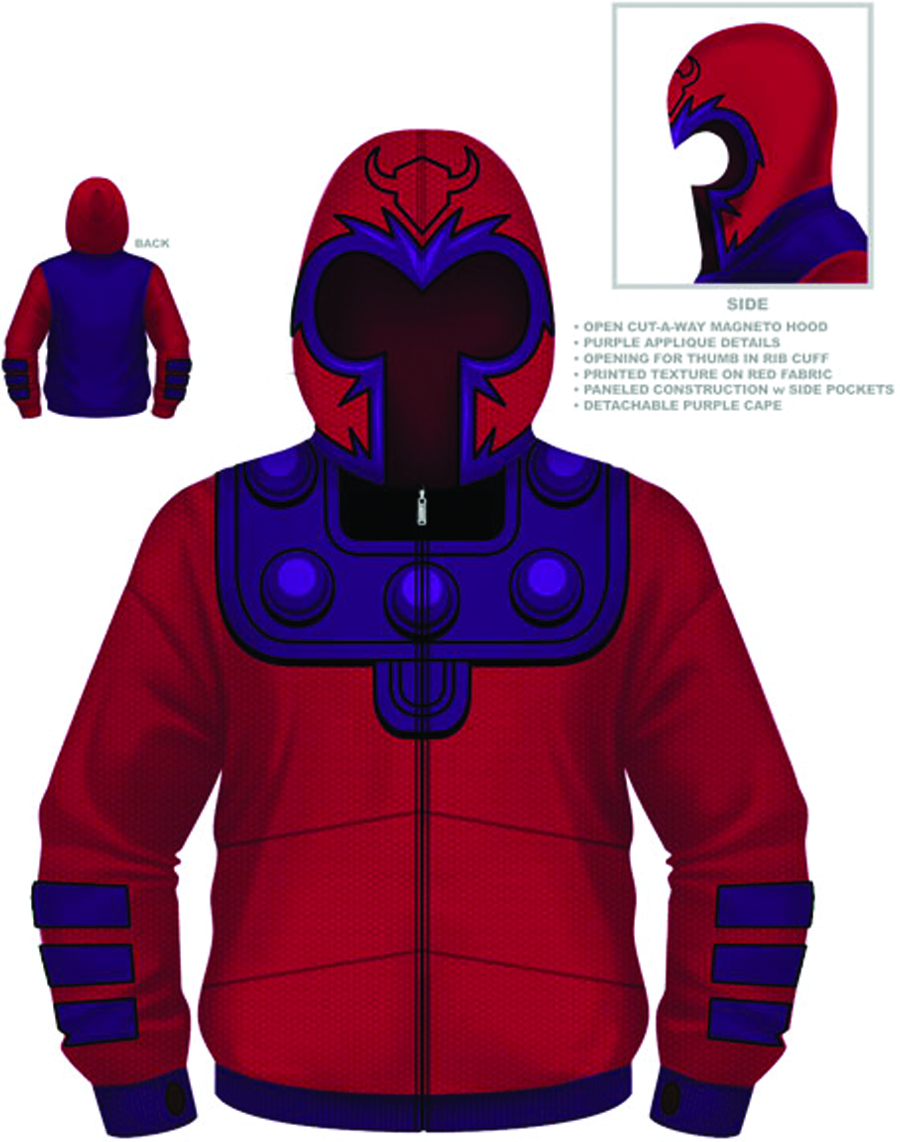 MAGNETO MAGGIE COSTUME HOODIE LG