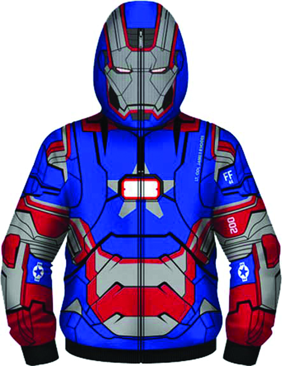 IRON MAN 3 PATRIOT I AM COSTUME HOODIE MED