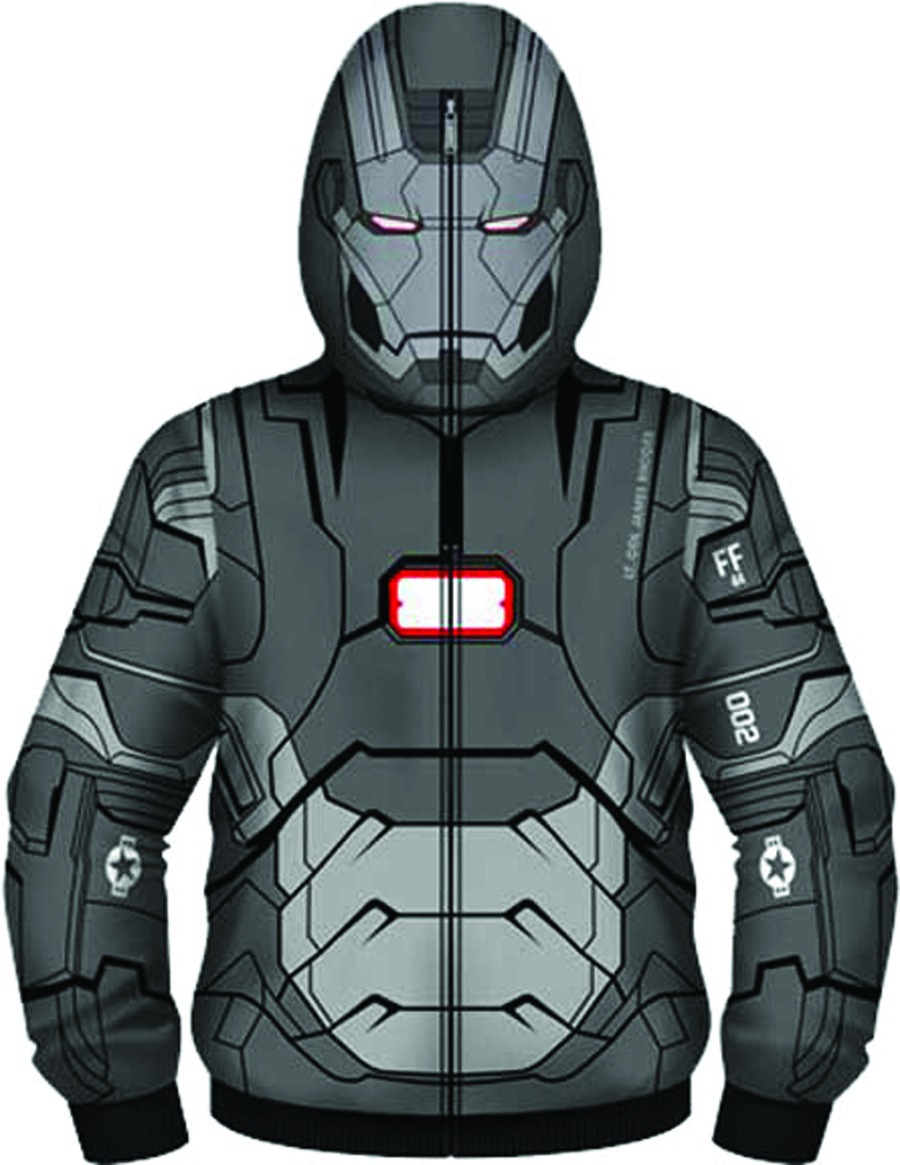 IRON MAN 3 WAR I AM COSTUME HOODIE SM