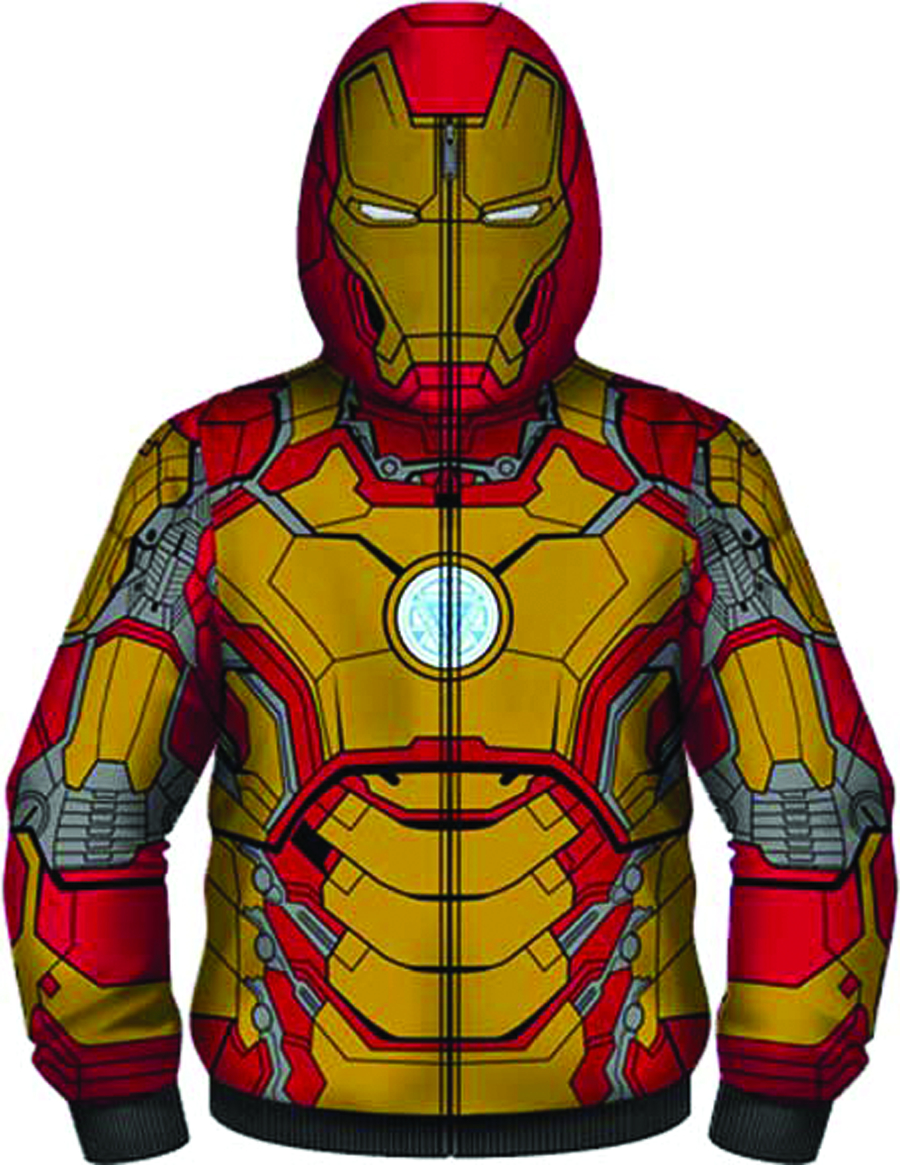 IRON MAN 3 MARK 42 COSTUME HOODIE XL