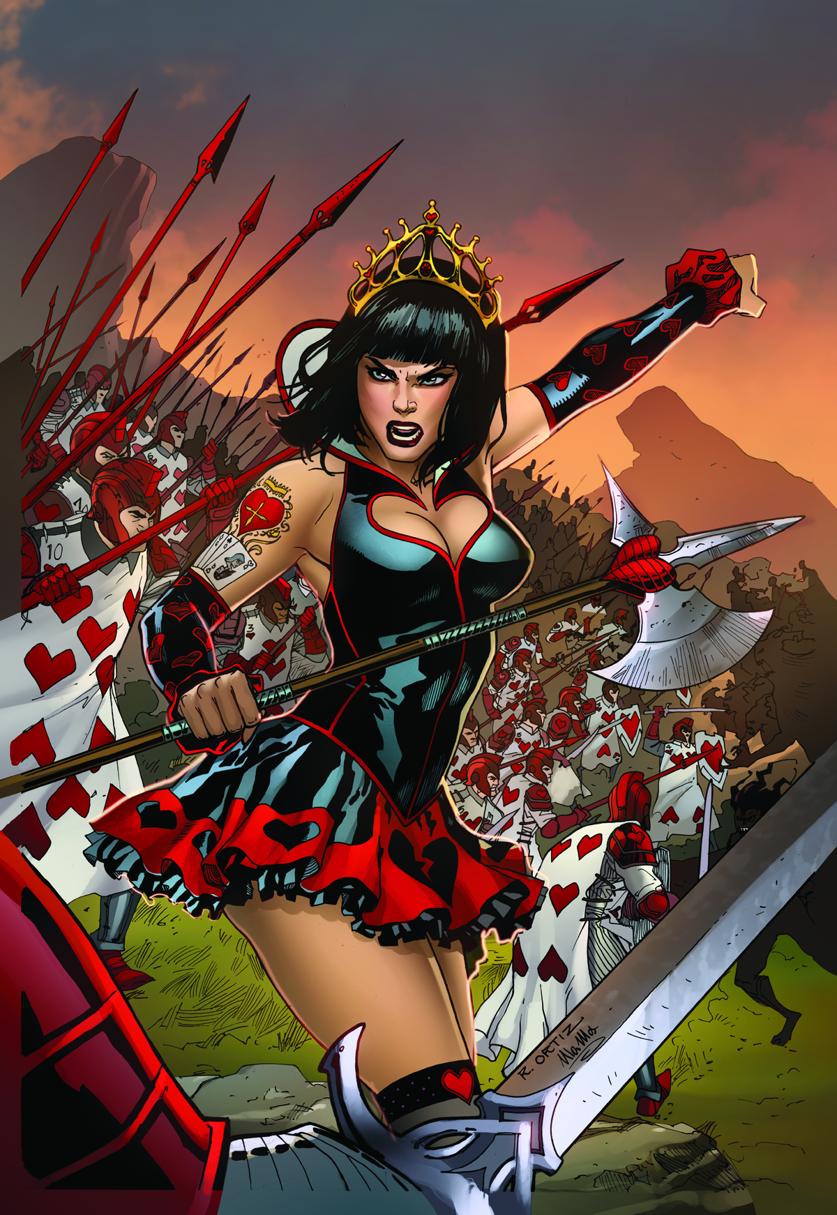 GFT WONDERLAND CLASH OF QUEENS #1 (OF 5) D CVR ORTIZ