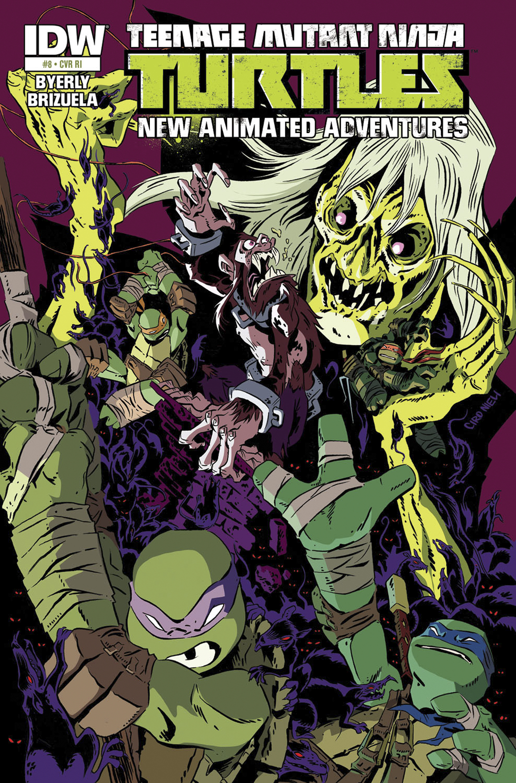 TMNT NEW ANIMATED ADVENTURES #8 FREE 10 COPY INCV