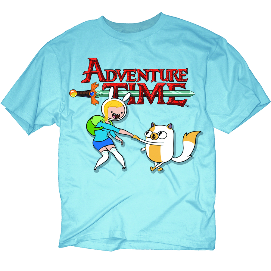 ADVENTURE TIME FIONNA & CAKE PX BLUE T/S LG