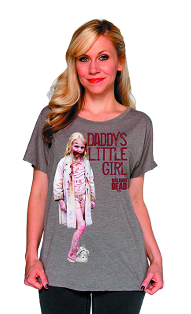 WALKING DEAD DADDYS LIL GIRL JRS T/S MED