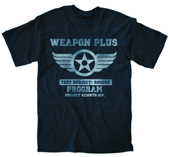 MARVEL WEAPON PLUS ROGERS PX NAVY T/S MED