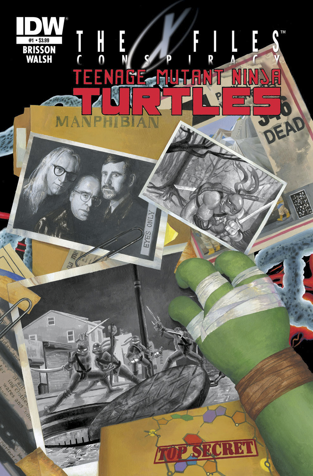 X-FILES CONSPIRACY TMNT #1