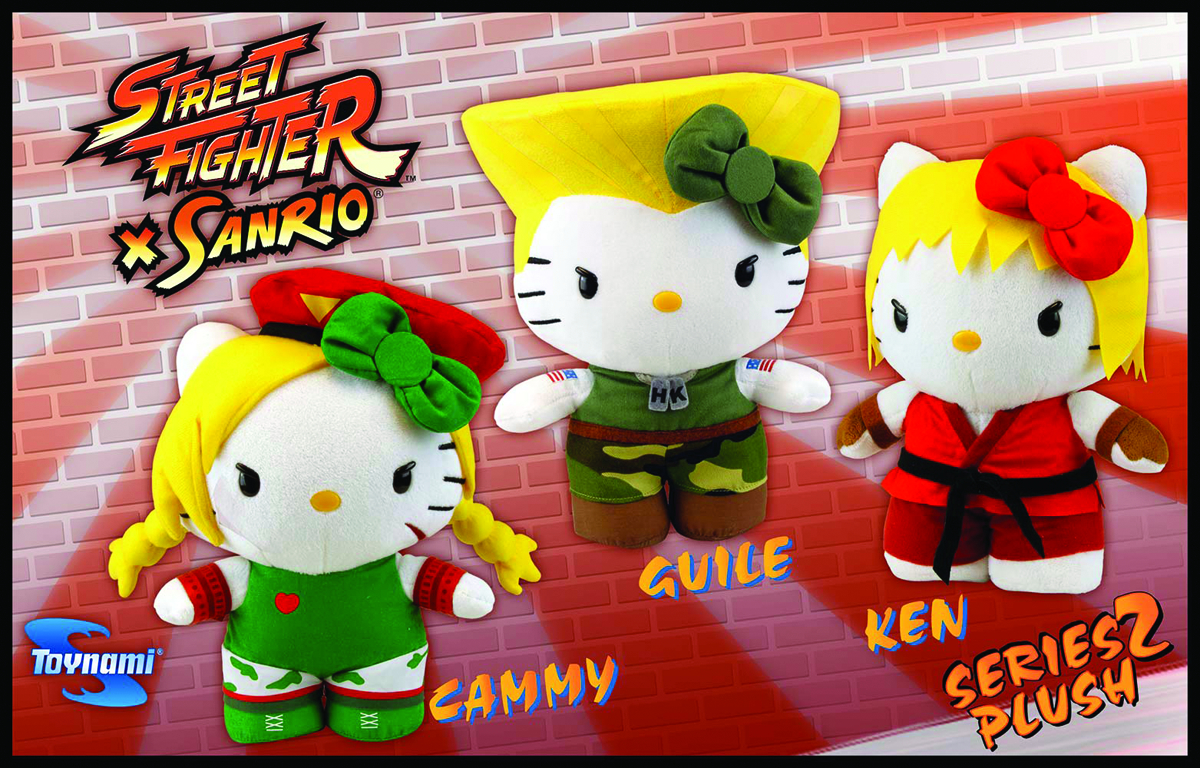 SANRIO X STREET FIGHTER GUILE 10-IN PLUSH