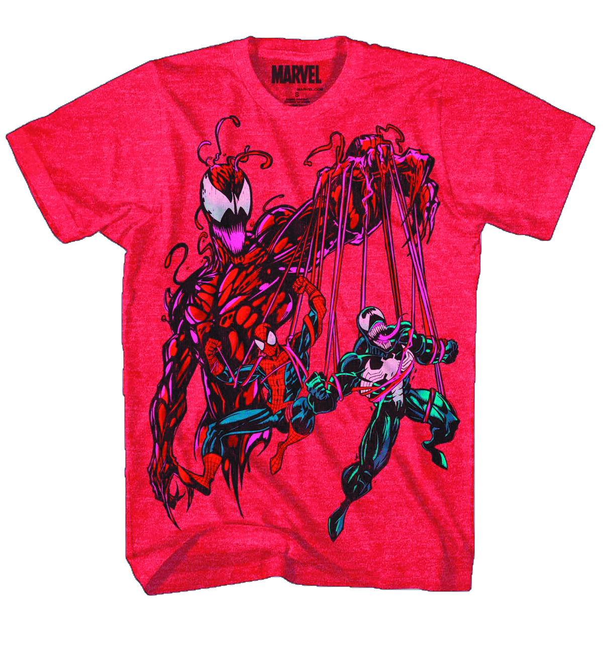 CARNAGE CARNAL PUPPET PX RED HEATHER T/S MED