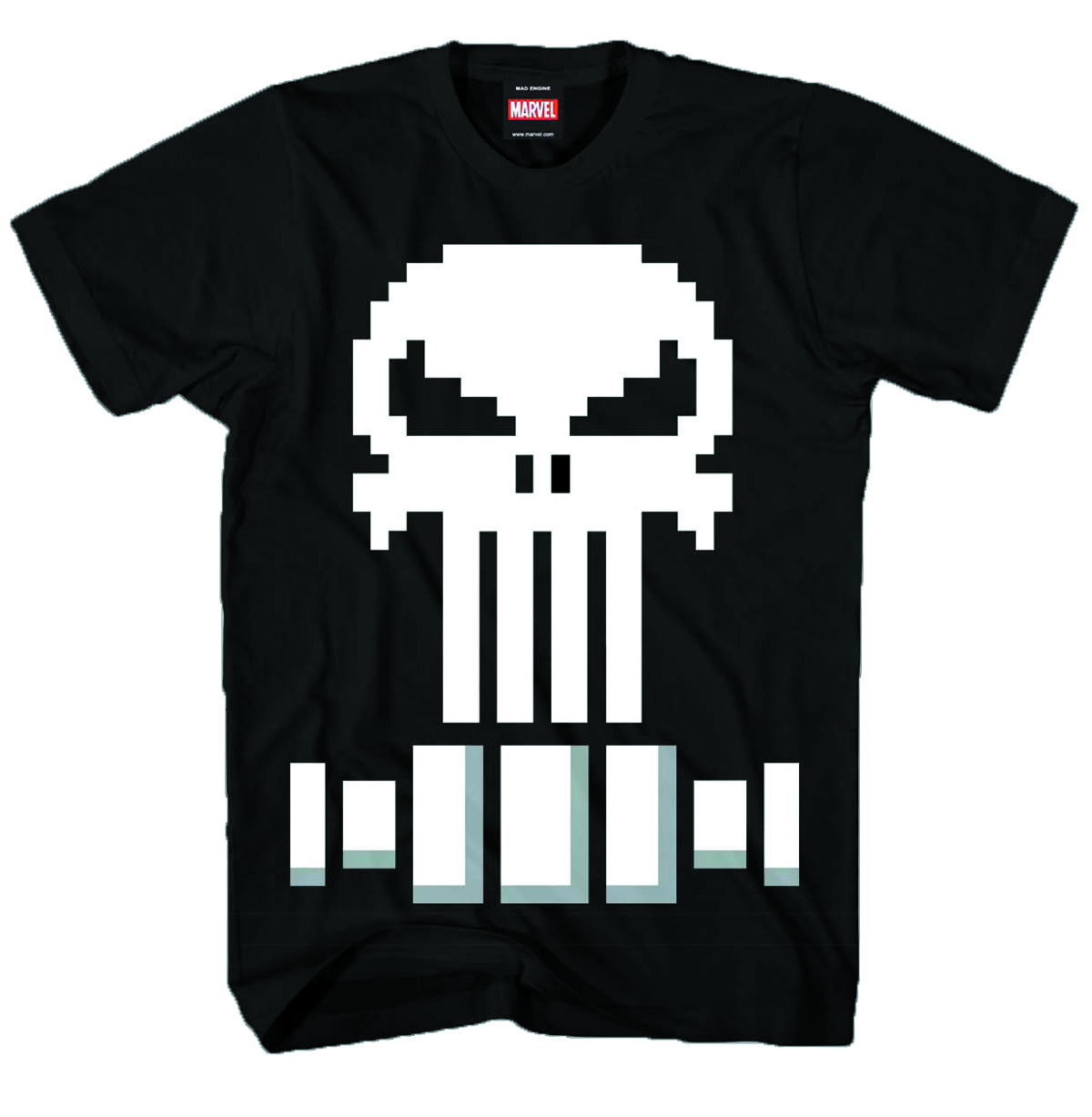PUNISHER PIXEL PUNISHER LOGO PX BLK T/S MED