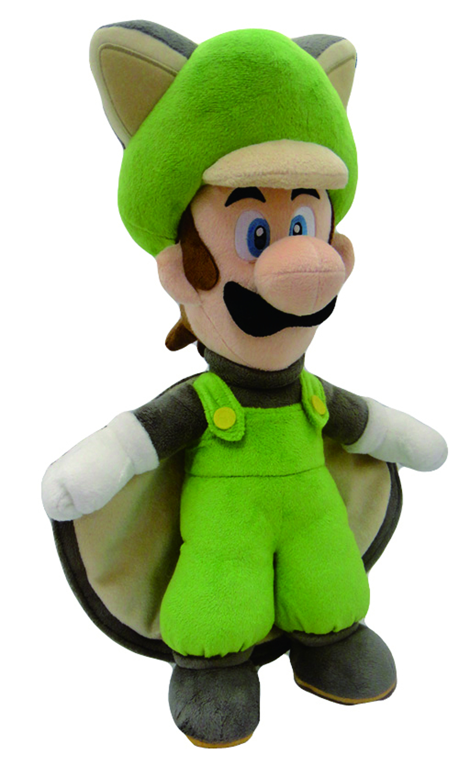 SUPER MARIO BROS FLYING SQUIRREL LUIGI 15IN PLUSH