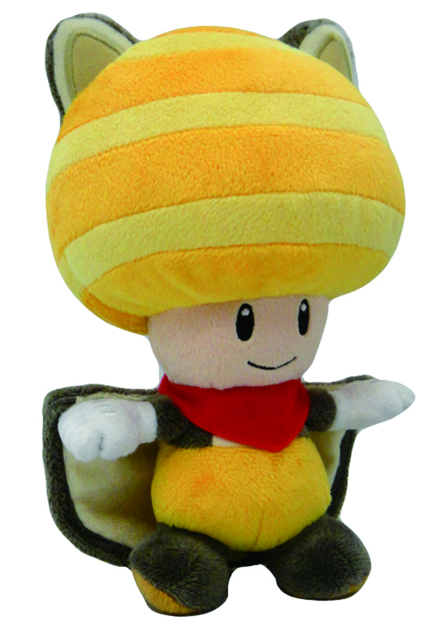 SUPER MARIO BROS SQUIRREL TOAD 8IN YELLOW PLUSH
