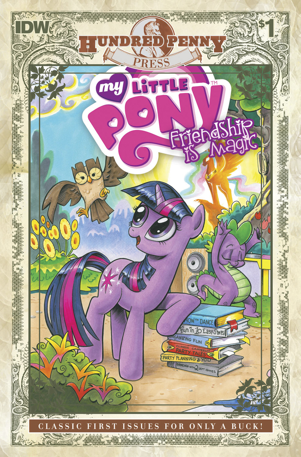 MLP FRIENDSHIP IS MAGIC 100 PENNY PRESS #1 100 COPY INCV