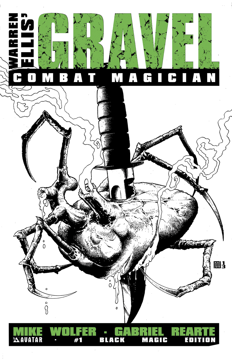 GRAVEL COMBAT MAGICIAN #1 BLACK MAGIC RETAILER ORDER INCV