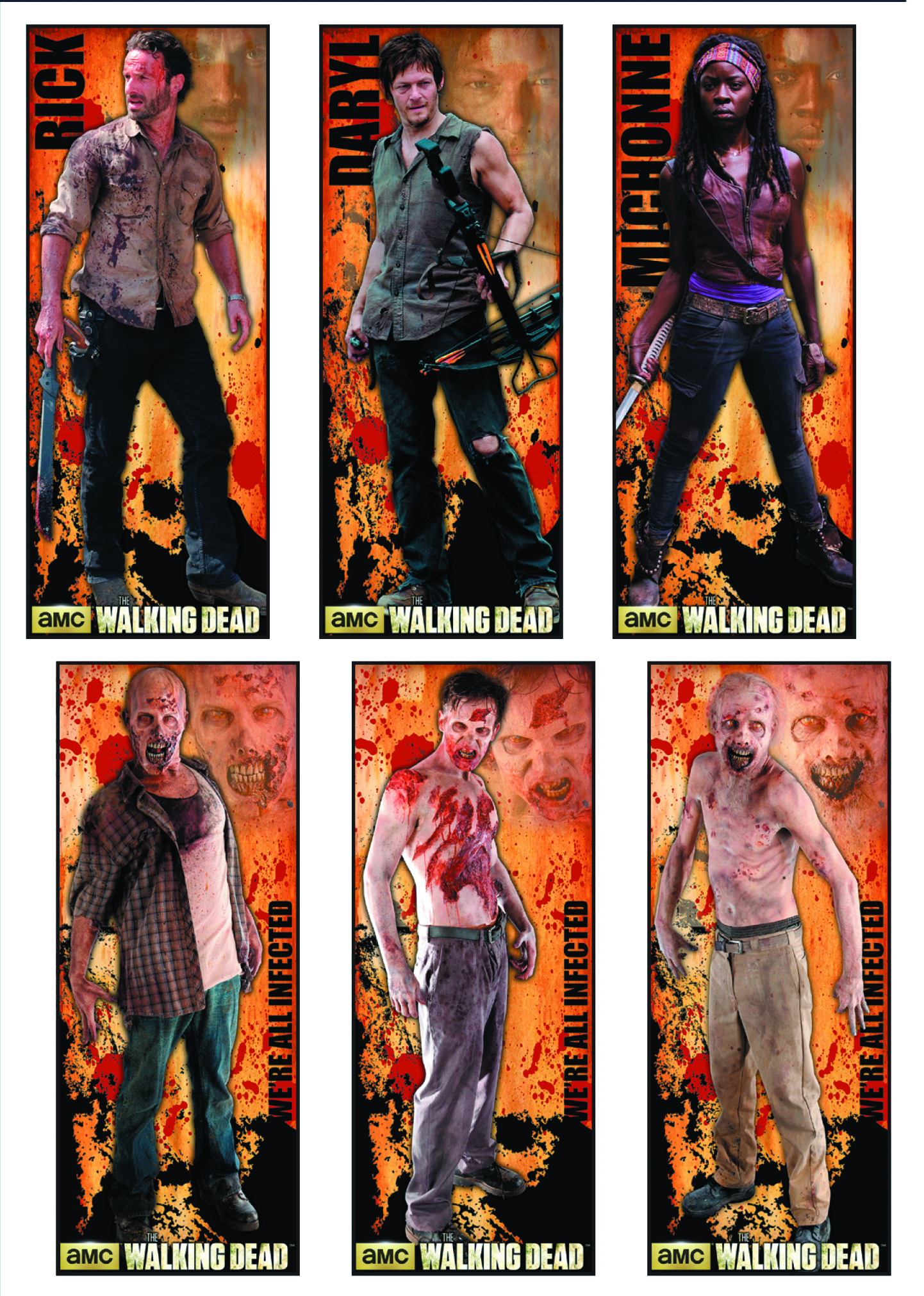 WALKING DEAD 24PC 30X76 ROLLED POSTER DUMP