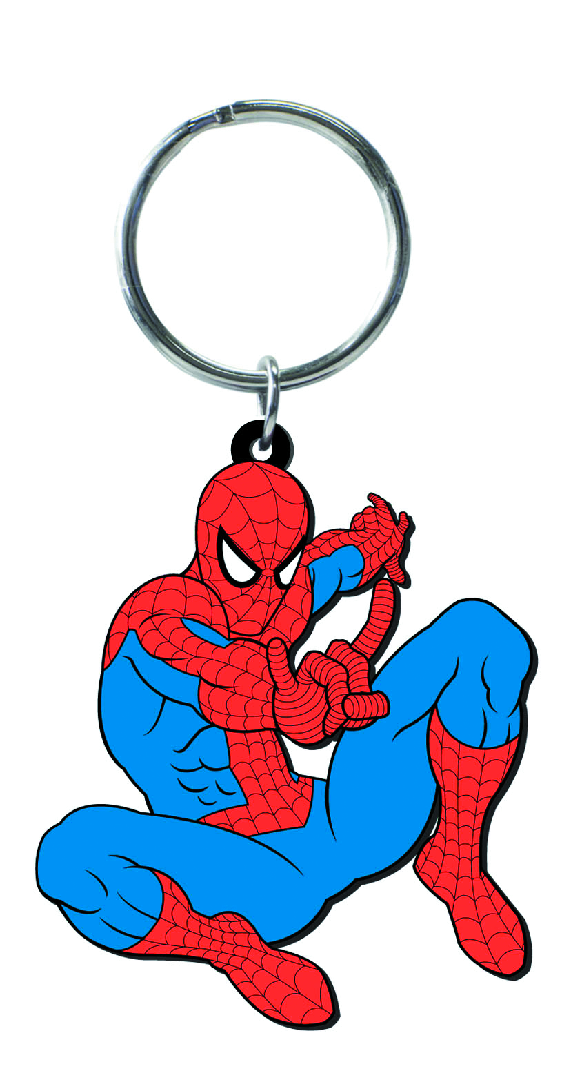 SPIDER-MAN CHARACTER SOFT TOUCH PVC KEYRING