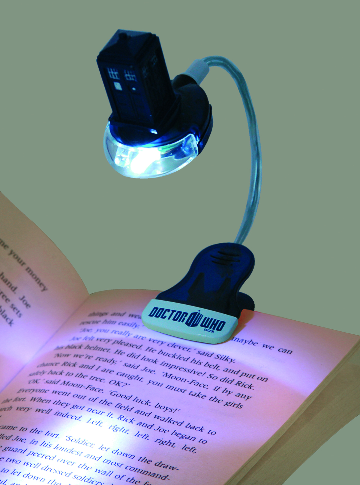 DOCTOR WHO UV CLIP ON BOOK LIGHT TARDIS
