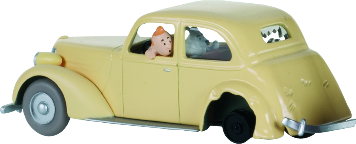 TINTIN TRANSPORTS CRASHED CAR