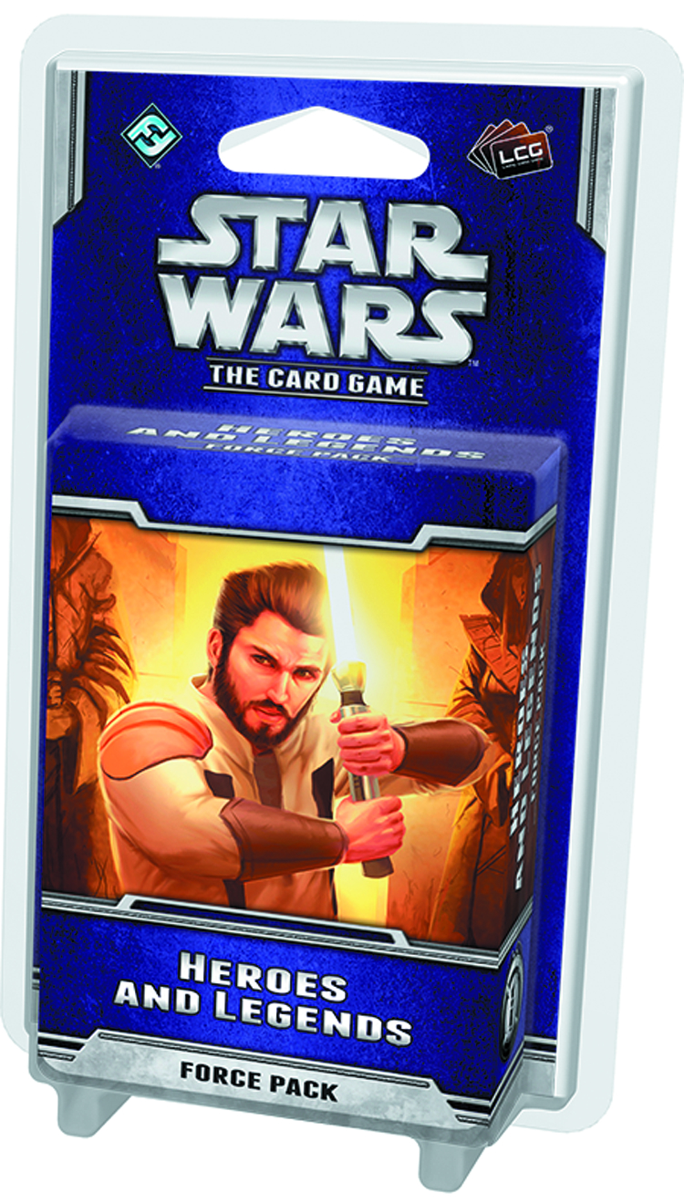 STAR WARS LCG HEROES AND LEGENDS FORCE PACK