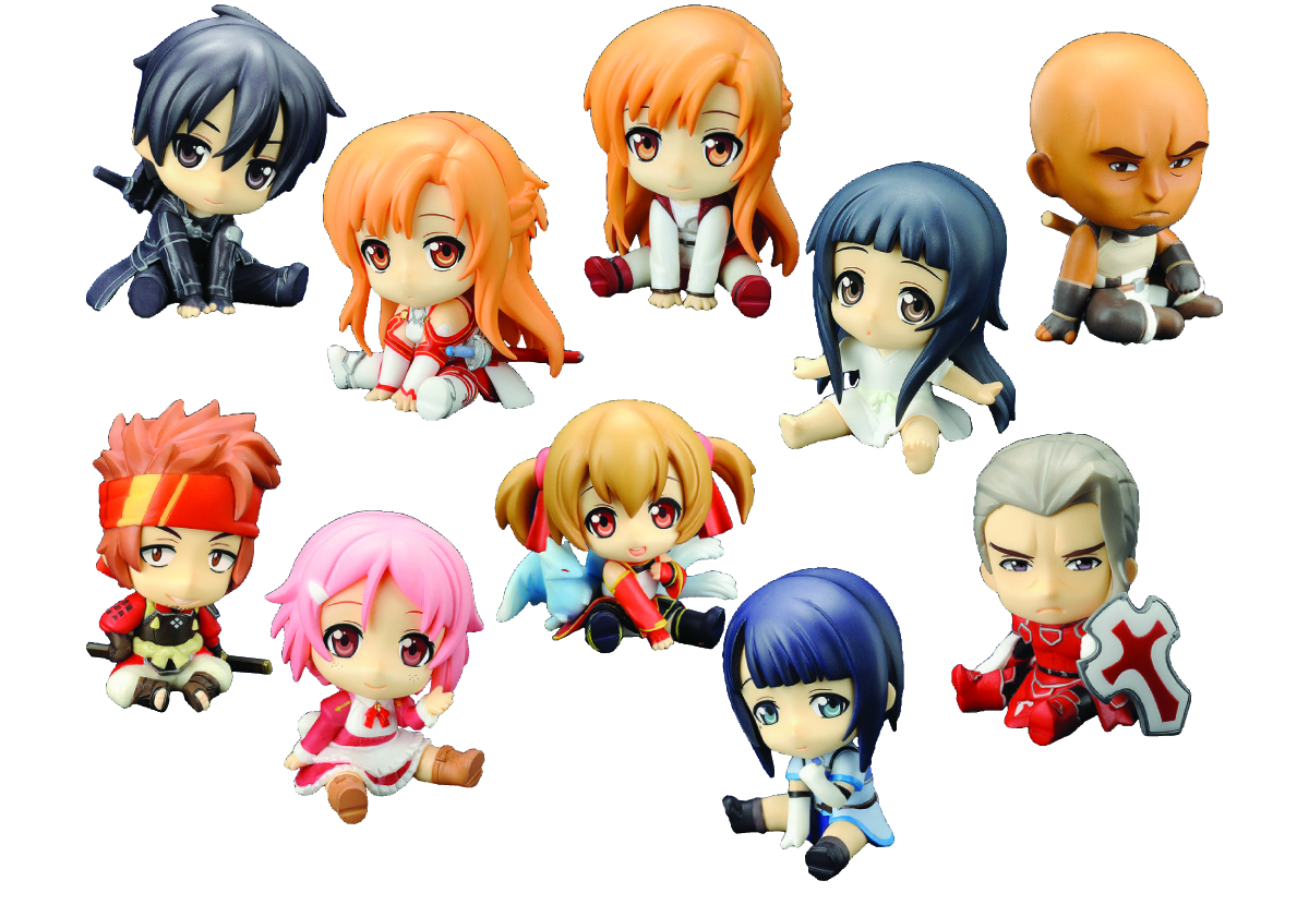 SWORD ART ONLINE PETANKO MINI TRAD FIG 10PC DS