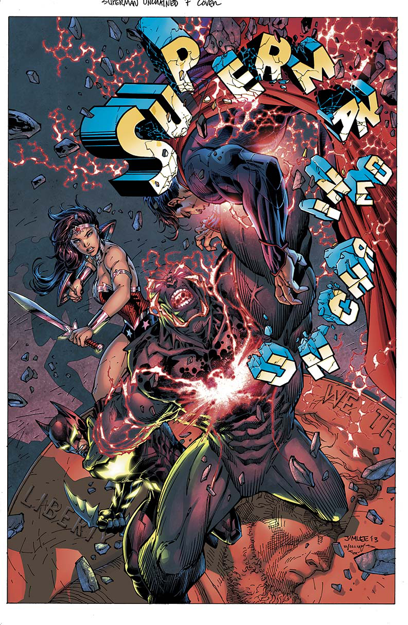 SUPERMAN UNCHAINED #7 COMBO PACK