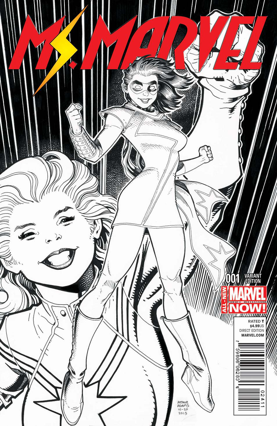 MS MARVEL #1 ART ADAMS SKETCH VAR ANMN