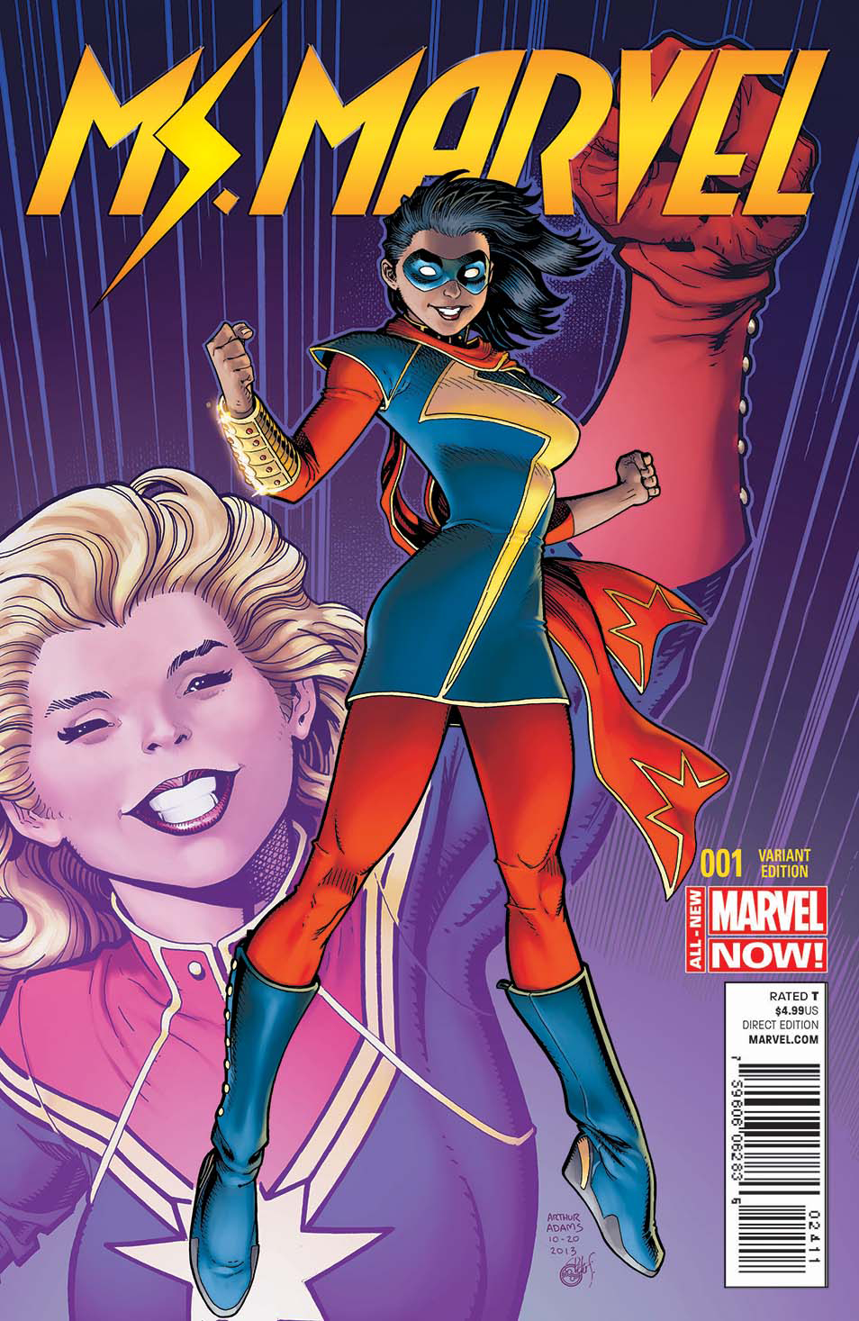 MS MARVEL #1 ART ADAMS VAR ANMN