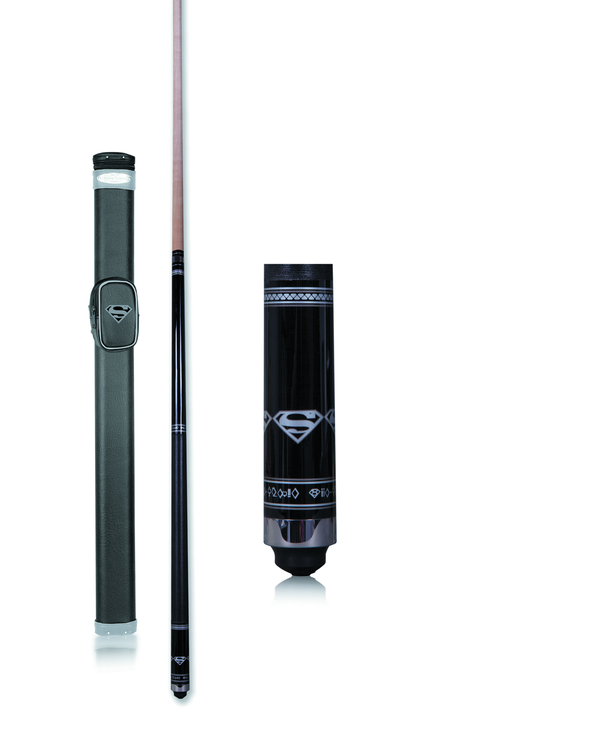 SUPERMAN BLACK POOL CUE