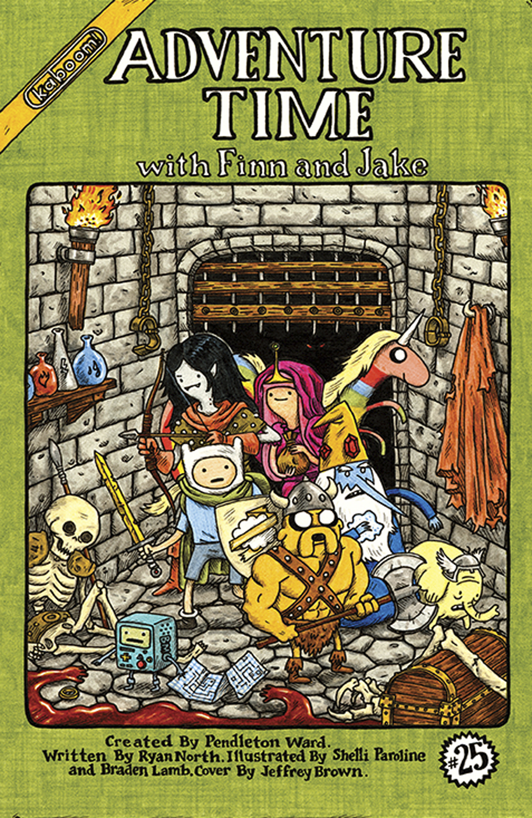 ADVENTURE TIME #25 50 COPY INCV BROWN VAR