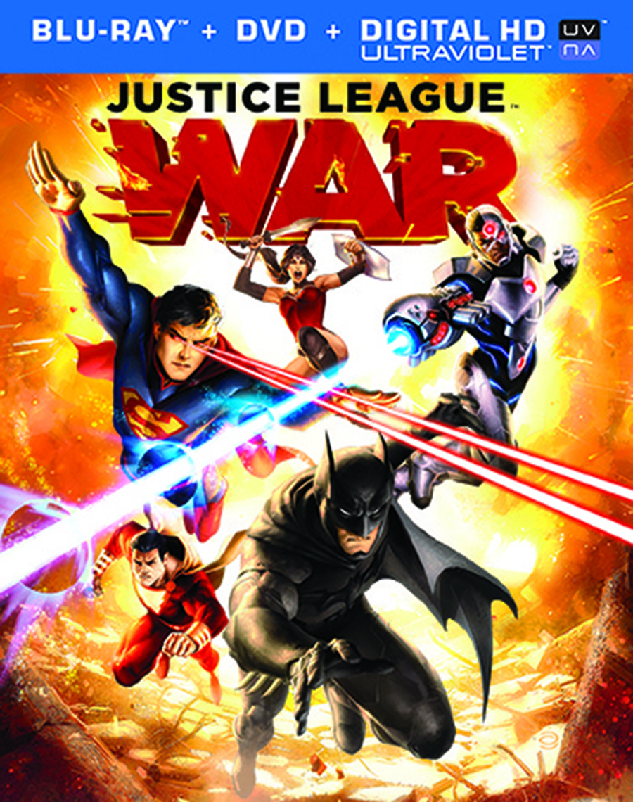 DCU JUSTICE LEAGUE WAR BD + DVD