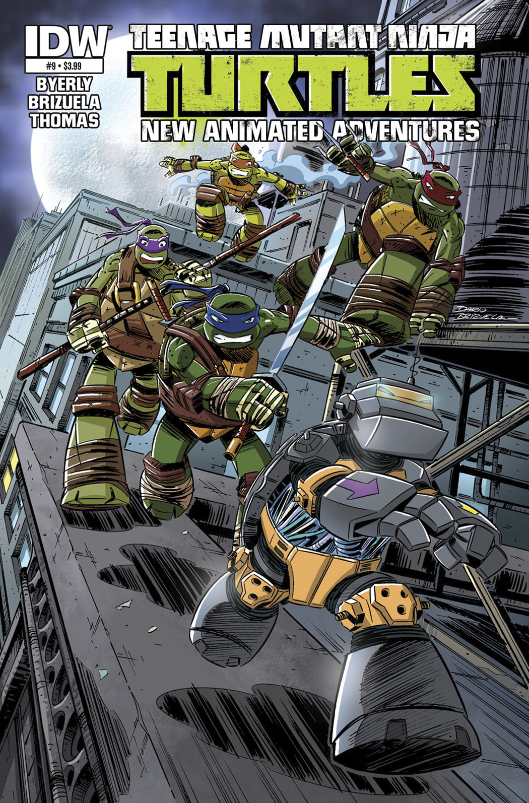 TMNT NEW ANIMATED ADVENTURES #9 FREE 10 COPY INCV