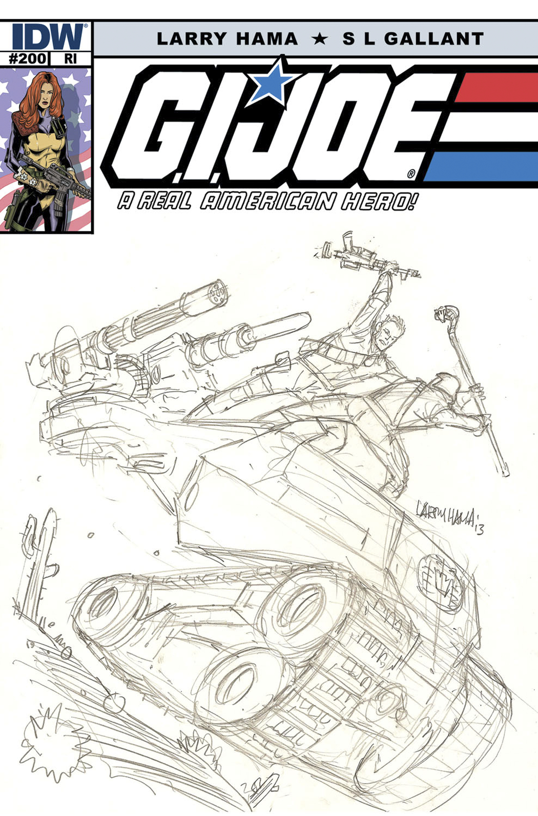 GI JOE A REAL AMERICAN HERO #200 FREE 25 COPY INCV
