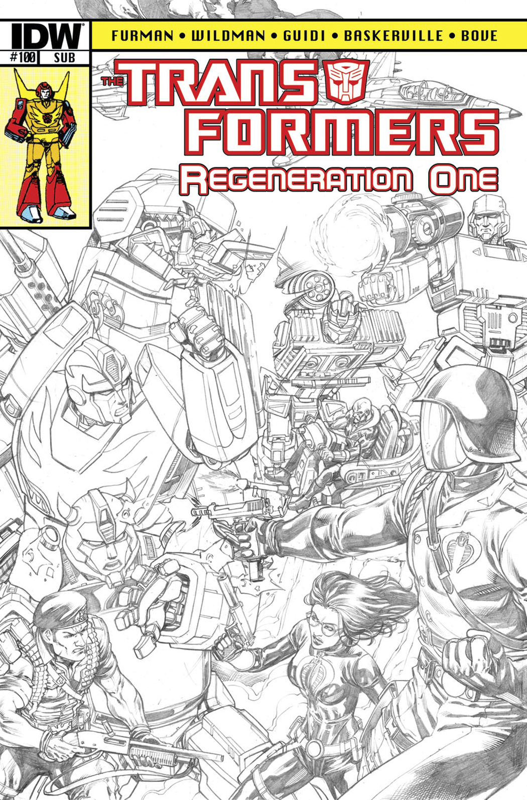 TRANSFORMERS REGENERATION ONE #100 FREE 25 COPY INCV