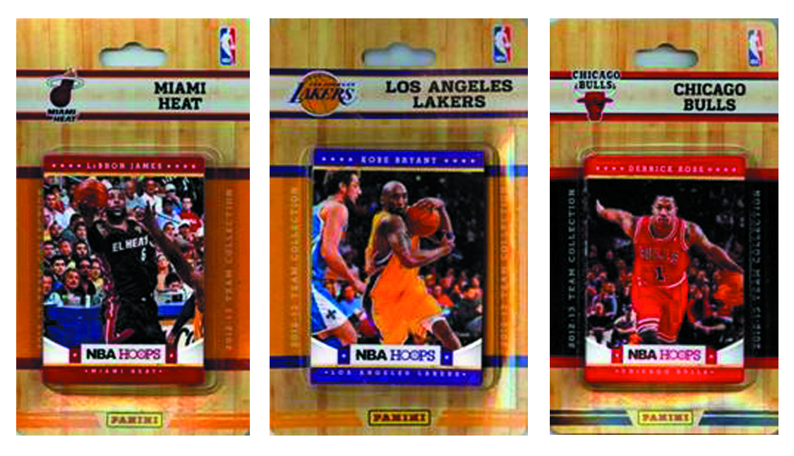 HOOPS 2013-14 BASKETBALL LAKERS T/C TEAM SET DIS
