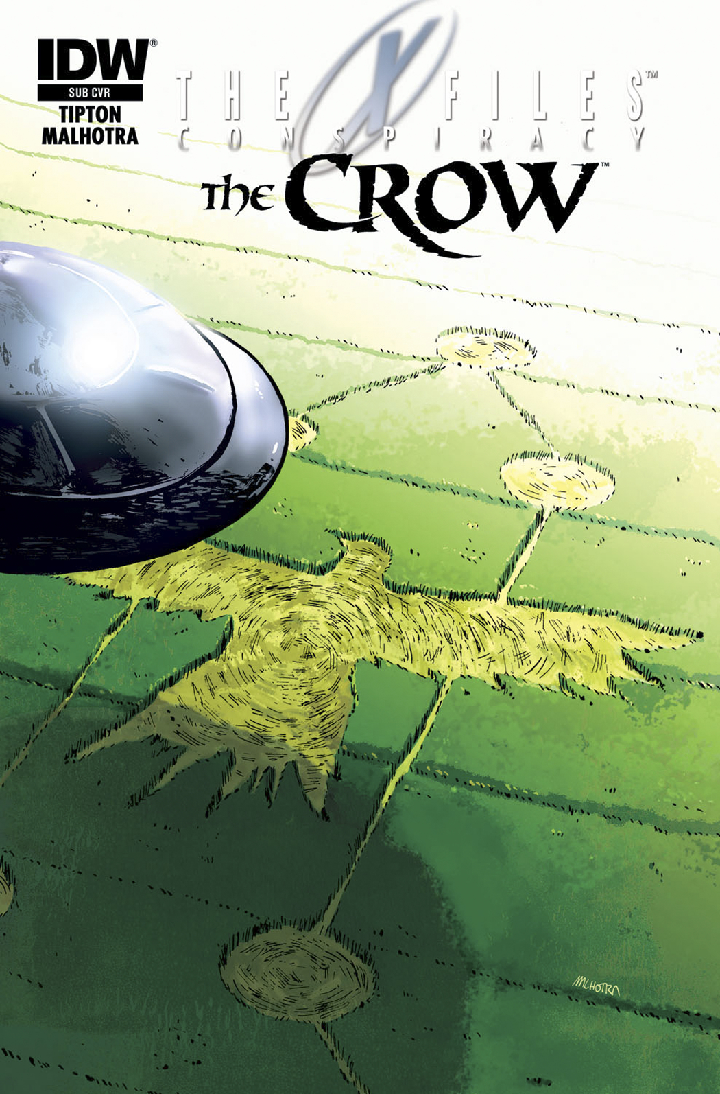 X-FILES CONSPIRACY CROW #1 SUBSCRIPTION VAR
