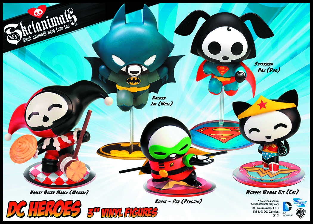 SKELANIMALS DC VINYLS FIGURE SER 1 ASST