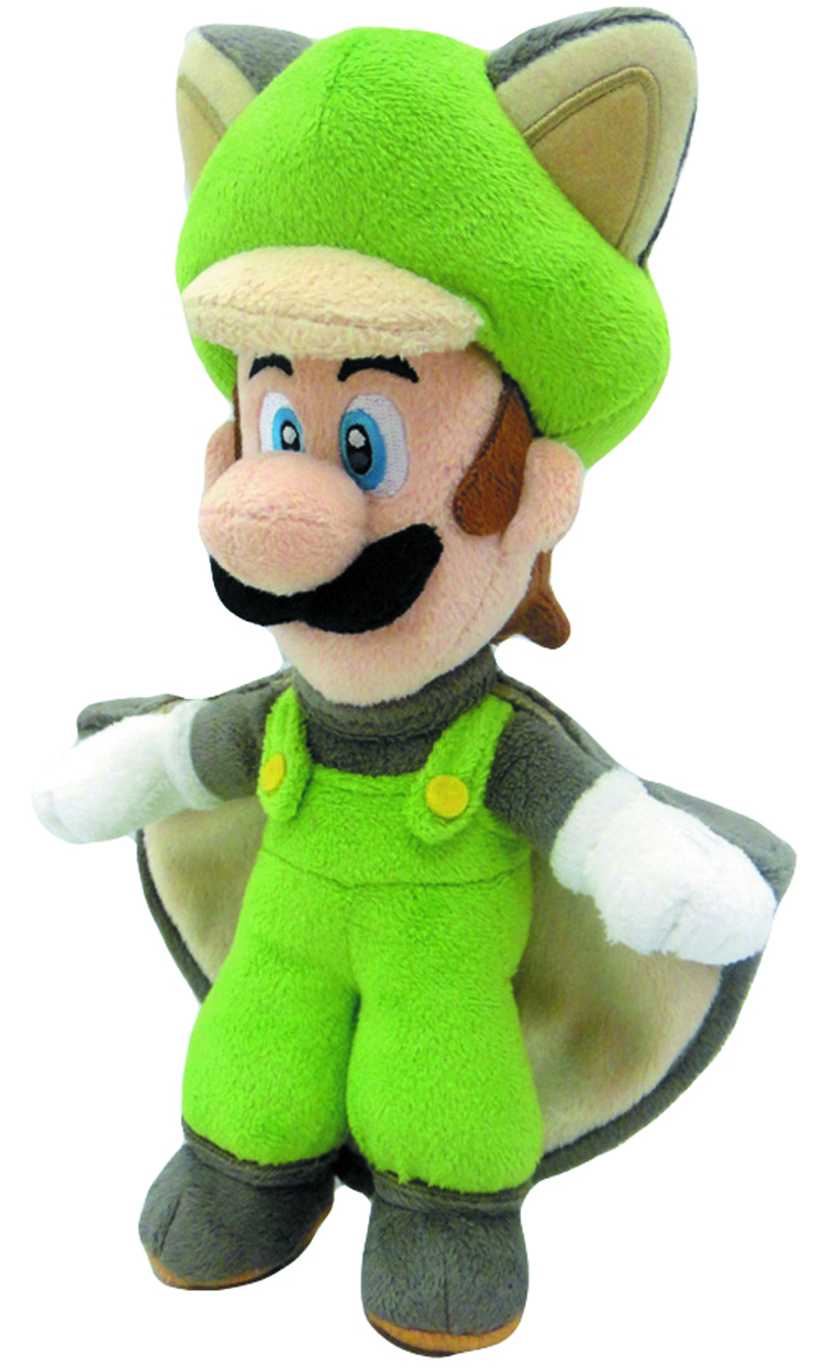 SUPER MARIO BROS FLYING SQUIRREL LUIGI 9IN PLUSH
