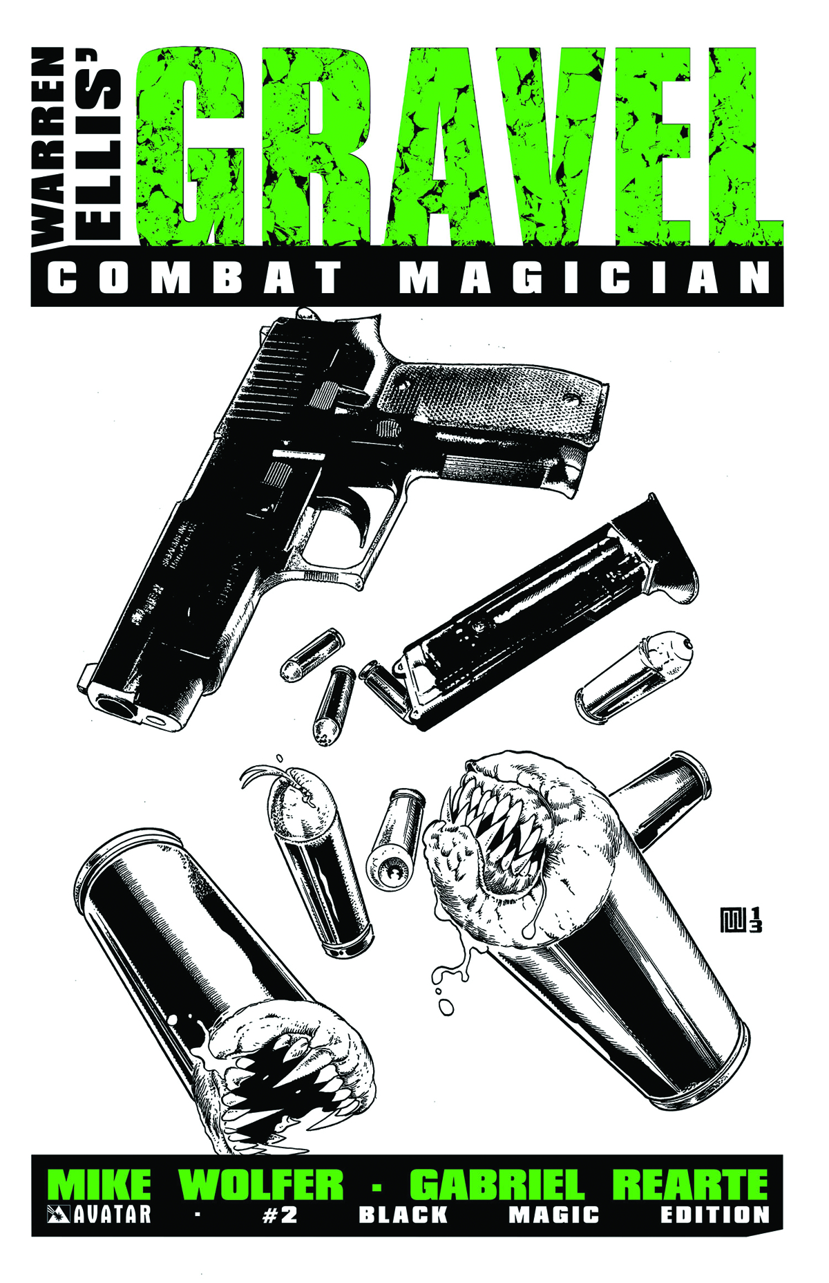 GRAVEL COMBAT MAGICIAN #2 BLACK MAGIC RETAILER ORDER INCV