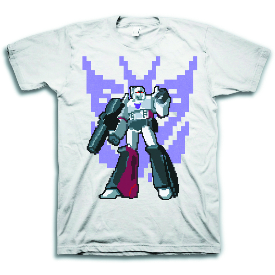 TF MEGATRON PIXEL PX SILVER T/S MED