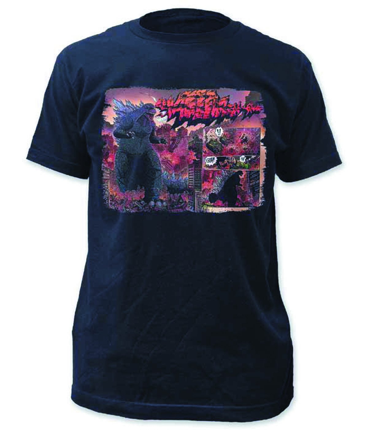 GODZILLA SCREAM CITY PX NAVY T/S MED