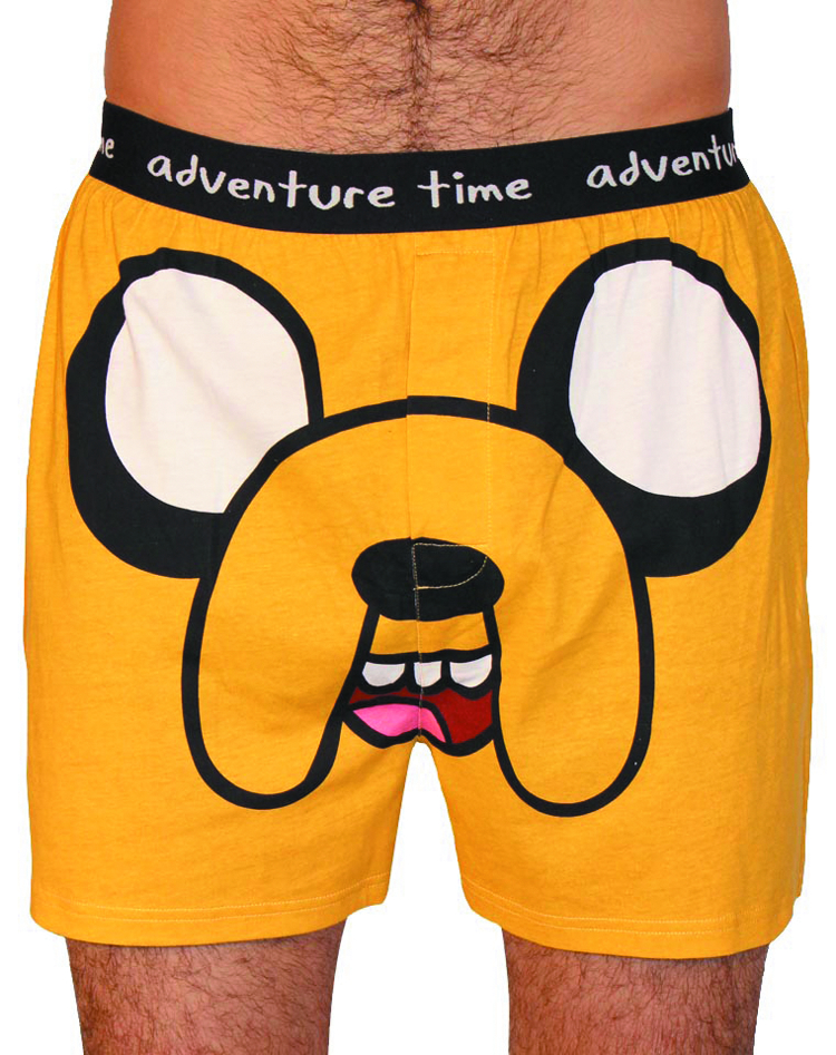 ADV TIME JAKE FACE MENS BOXER SHORTS MED