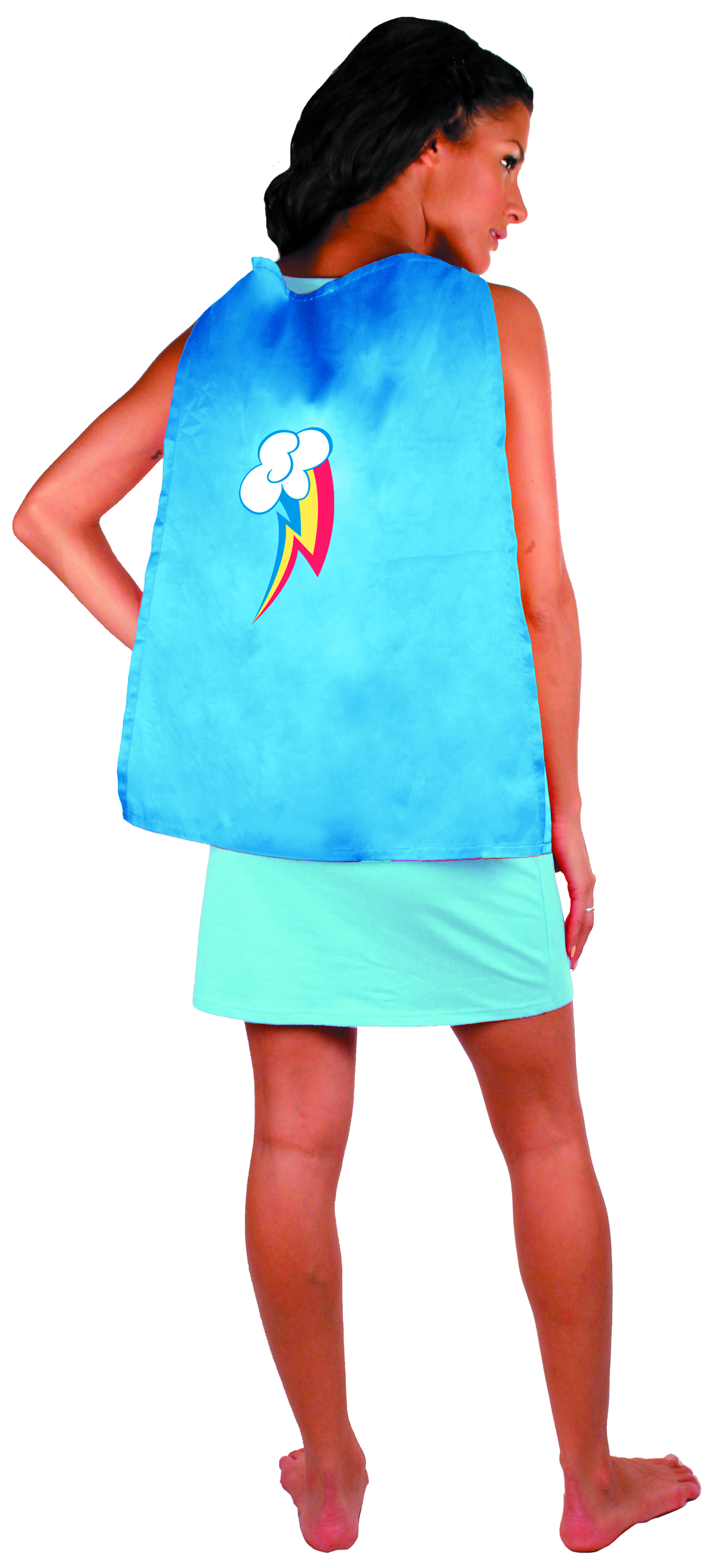 MLP RAINBOW DASH SLEEP TANK W/CAPE SM