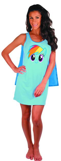 MLP RAINBOW DASH SLEEP TANK W/CAPE MED