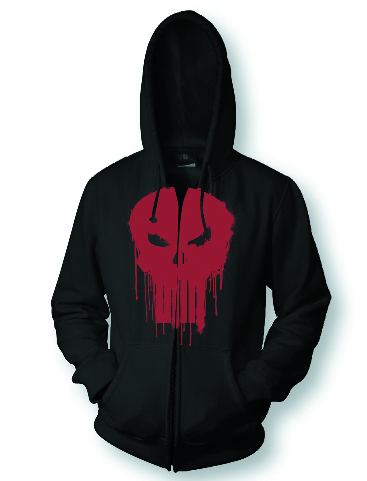 PUNISHER RED SYMBOL PX BLK HOODIE MED