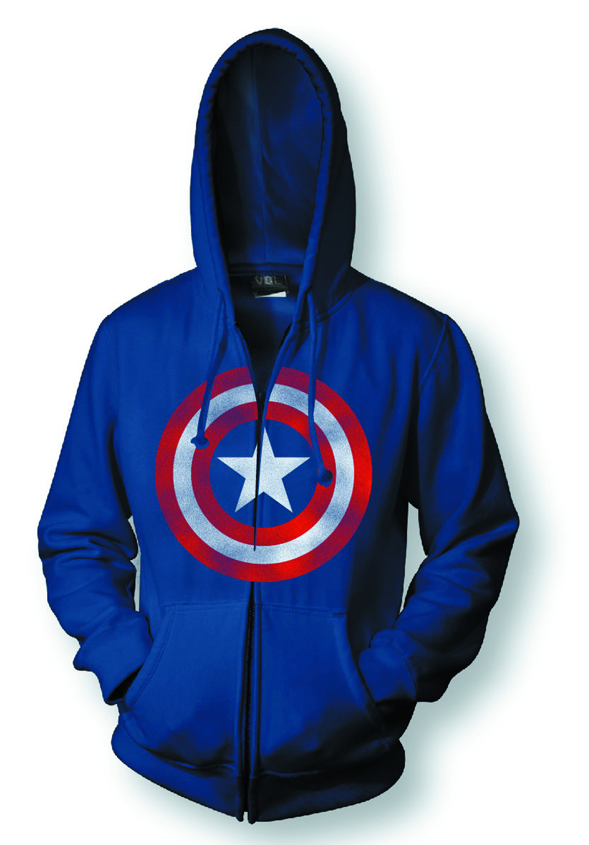 CAPTAIN AMERICA SHIELD PX NAVY HOODIE LG