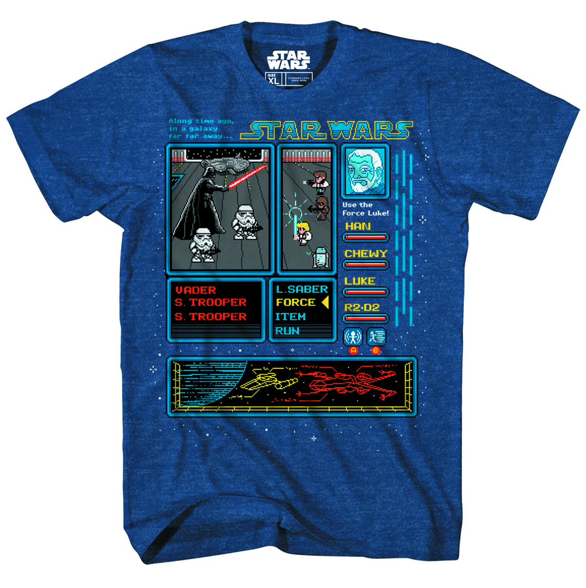 STAR WARS RPG WARD NAVY HEATHER T/S MED